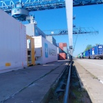 Baugrund-Kranbahnschiene